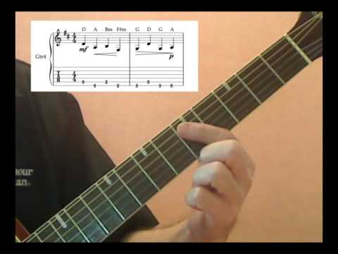 Canon in D Guitar Lesson – part1