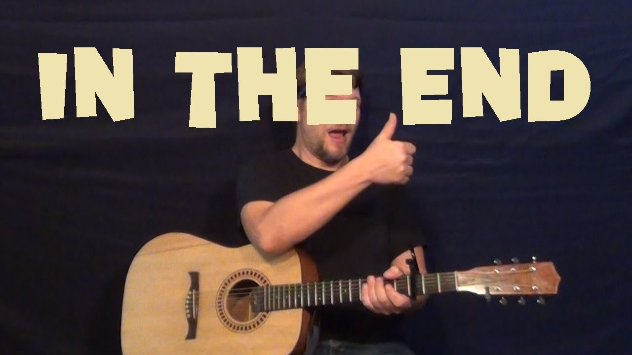 In the End (LINKIN PARK) Guitar Lesson How to Play Easy Strum How to – Em D C G