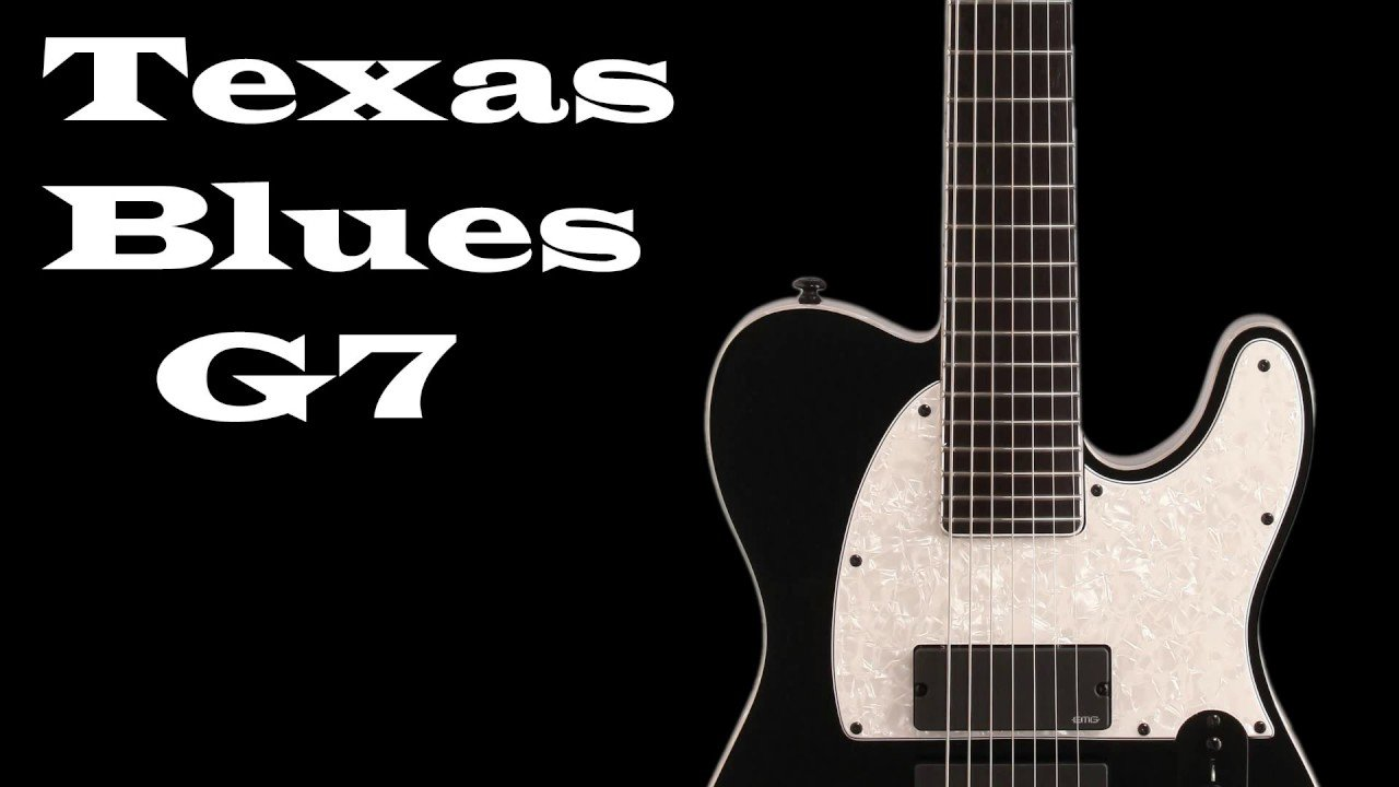 Texas Blues Rock Guitar Backing Track in G7