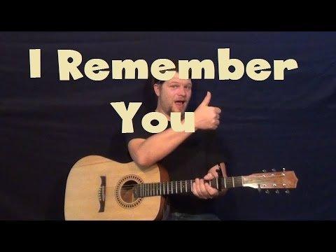 I Remember You (Skid Row) Easy Guitar Lesson Strum Chords Licks How to Play Tutorial
