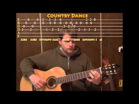 Country Dance (Carulli/Classical) Solo Guitar Cover Lesson With TAB
