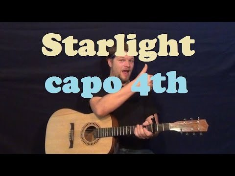 Starlight (Muse) Easy Guitar Lesson How to Play Strum Chords Licks How to Play Tutorial – Capo 4th