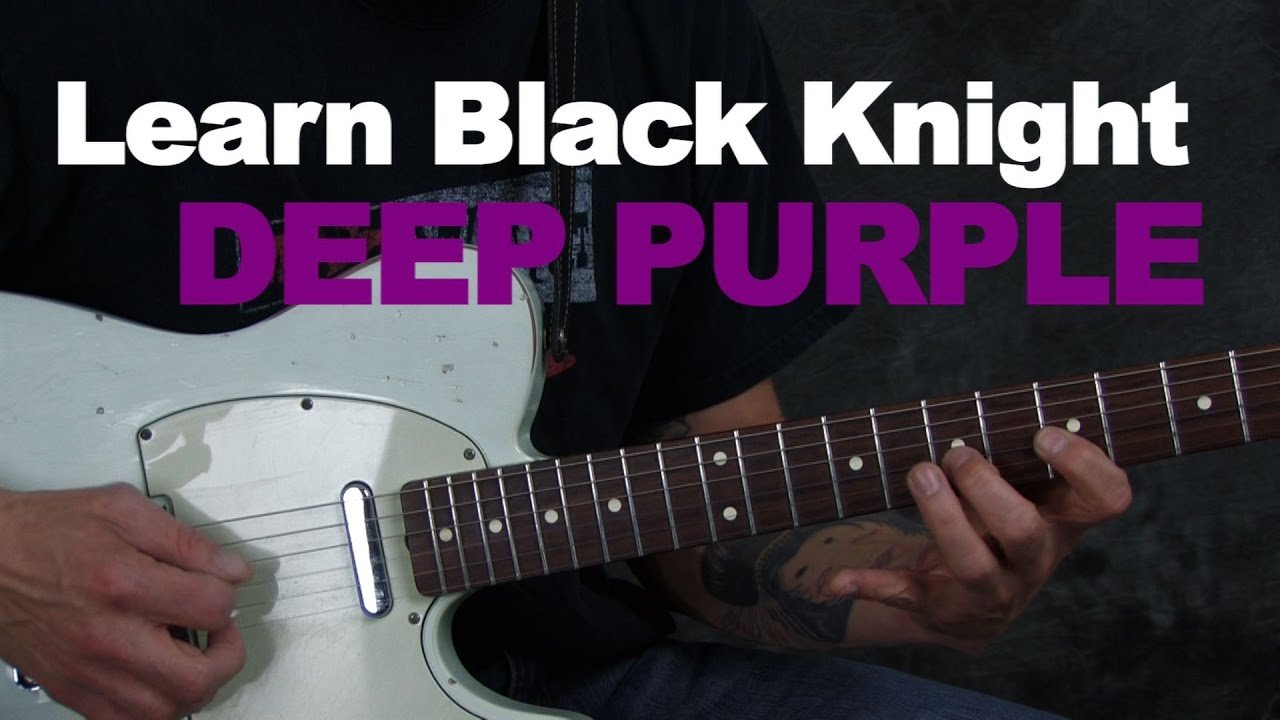 Learn guitar song lesson Black Night by Deep Purple Ritchie Blackmore licks chords rhythms
