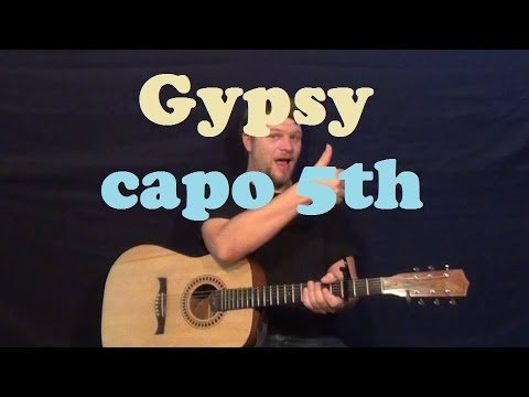 Gypsy (Fleetwood Mac) Guitar Lesson Easy Strum Chords How to Play Tutorial C F G Am