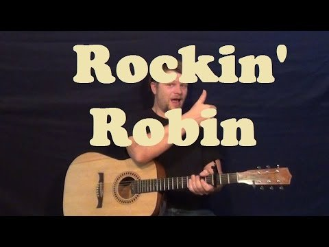Rockin' Robin (Bobby Day) Easy Guitar Lesson Strum Chord How to Play Tutorial