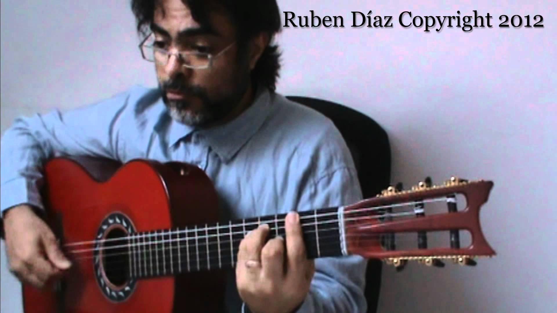 Spain Interactive Melody  (by Chick Corea) Flamenco-Jazz Guitar Lesson Ruben Diaz GFC Malaga