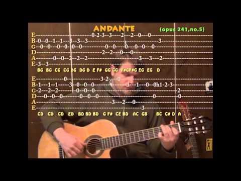 Andante (Carulli/Classical) Solo Guitar Cover Lesson with TAB – Opus 241, no.5