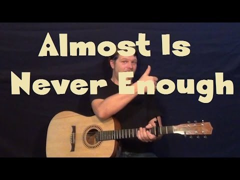 Almost Is Never Enough (Ariana Grande) Guitar Lesson Strum Chords How to Play
