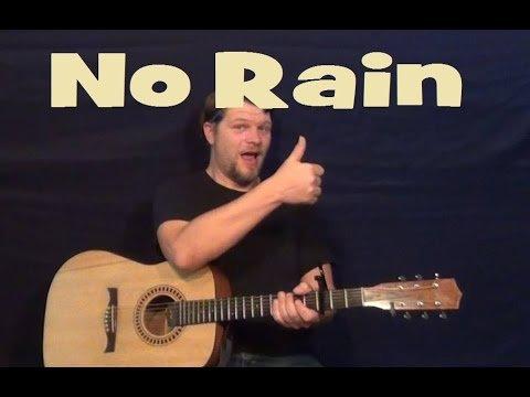 No Rain (Blind Melon) Easy Guitar Lesson Strum Chord Licks How to Play Tutorial
