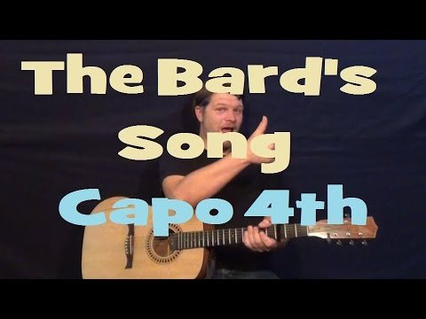 The Bard's Song (Blind Guardian) Easy Guitar Lesson How to Play Strum Chords Licks Tutorial