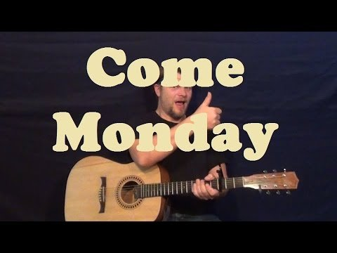 Come Monday (Jimmy Buffett) Easy Guitar Lesson Strum Chords Licks How to Play Tutorial
