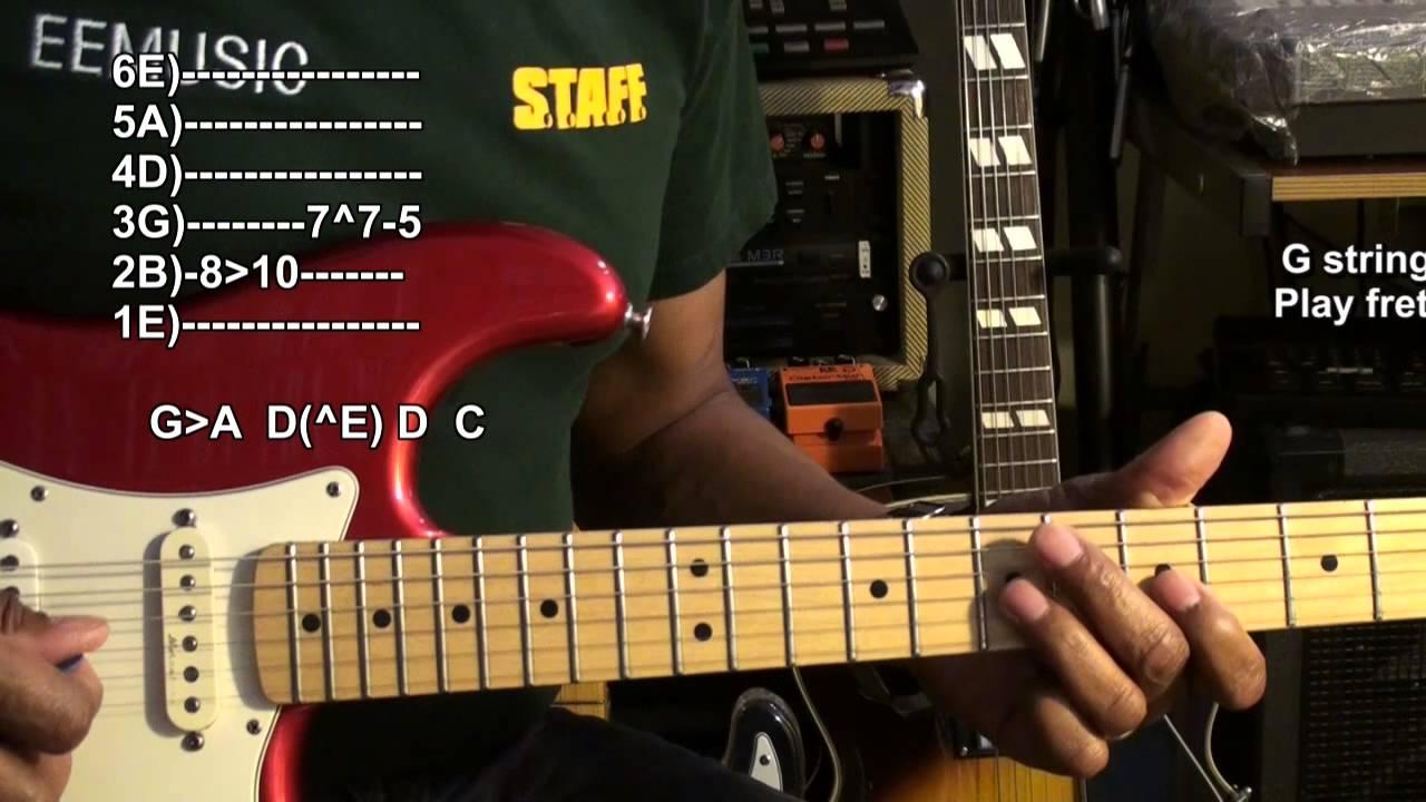 Quik Blues Licks #5 Easy Guitar Solo Lesson  Tutorial EricBlackmonMusicHD