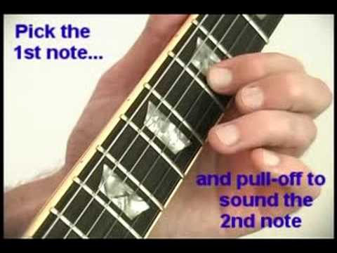 Basic Pull Off Technique for Beginner Guitar Players – Guitar Lesson