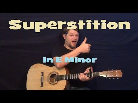 Superstition (Stevie Wonder) Easy Strum Guitar Lesson How to Play Tutorial – Standard Tuning