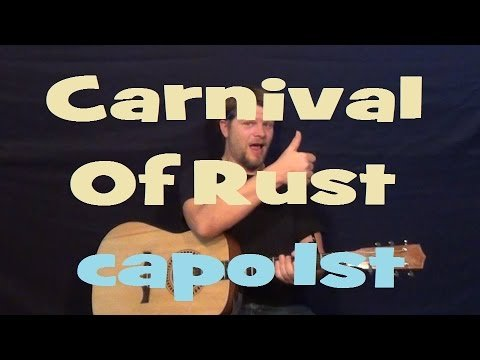 Carnival of Rust (Poets of the Fall) Easy Strum Guitar Lesson Chords How to Play Tutorial