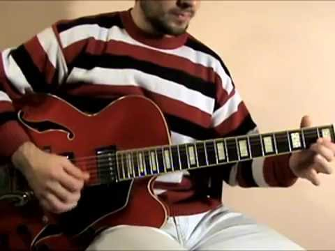 Learn to play J.S. Bach invention solo jazz guitar (lesson)