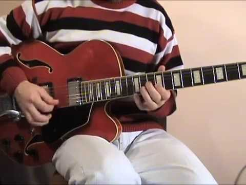 Learn to play Deep swing jazz guitar solo (lesson)