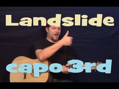Landslide (Fleetwood Mac) Guitar Lesson Strum Chords Fingerstyle How to Play Tutorial C Am G D Em