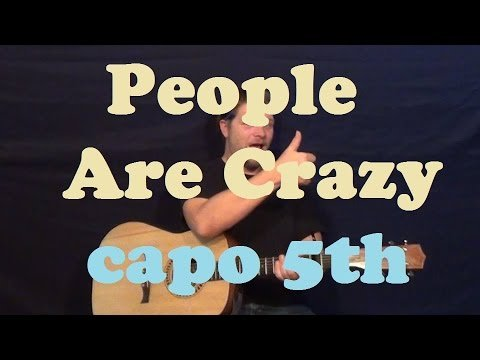 People Are Crazy (Billy Currington) Guitar Lesson Capo 5th Easy Strum Chords How to Play Tutorial