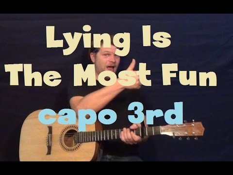 Lying is the Most Fun (Panic at the Disco) Easy Guitar Lesson How to Play Tutorial