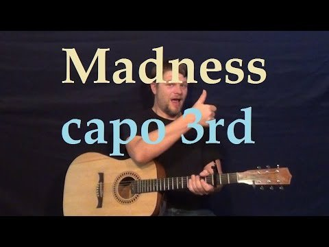 Madness (Muse) Easy Strum Chord Guitar Lesson – How to Play for Beginners – G C D Em