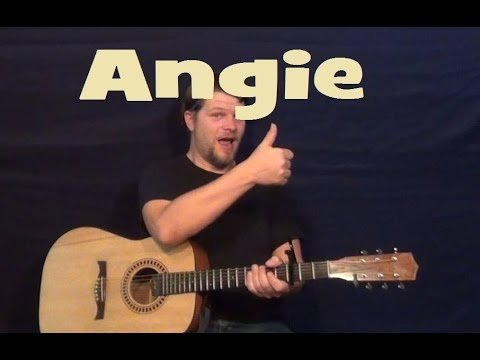 Angie (Rolling Stones) Easy Strum Guitar Lesson Licks How to Play Angie Tutorial