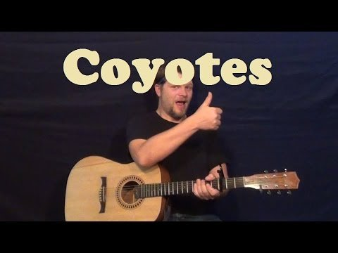 Coyotes (Don Edwards) Easy Guitar Lesson Chords Licks TAB How to Play Tutorial