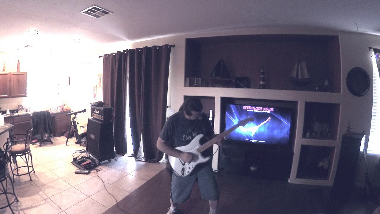 Lou Villanova Zoom Q2n improv over Mega Tracks Rock Guitar Backing Track