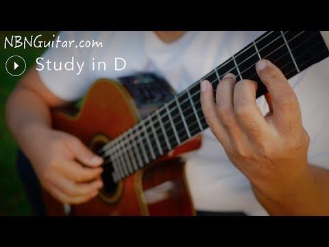Study in D | Fernando Sor | Classical Guitar Play-through | Etude No. 17, Op. 35