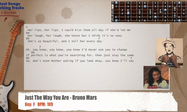 Just The Way You Are – Bruno Mars Guitar Backing Track with chords and lyrics