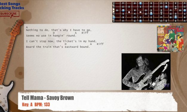Tell Mama – Savoy Brown Guitar Backing Track with chords and lyrics