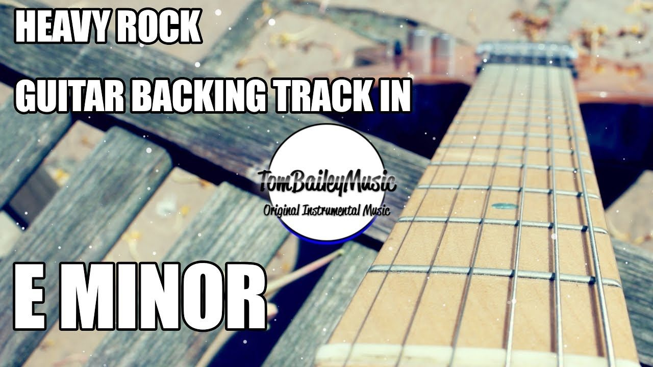 Heavy Rock Guitar Backing Track In E Minor | The Glog