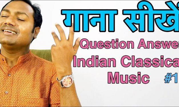 """Question Answer #1 """"Indian Classical Singing Lessons"""" By Mayoor"""