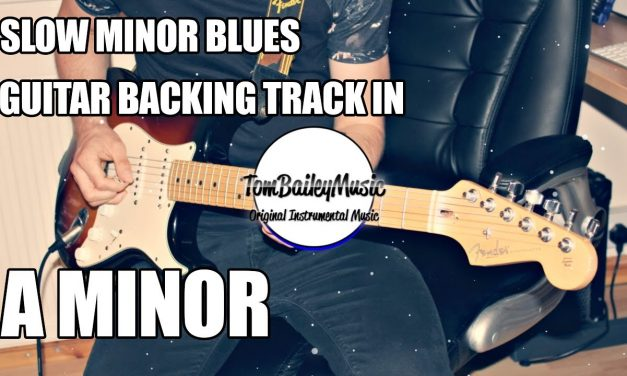 Slow Minor Blues Guitar Backing Track In A Minor
