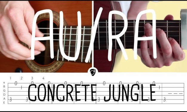 How to play Concrete Jungle (acoustic version) Au/Ra | Guitar Lesson & Songsheet
