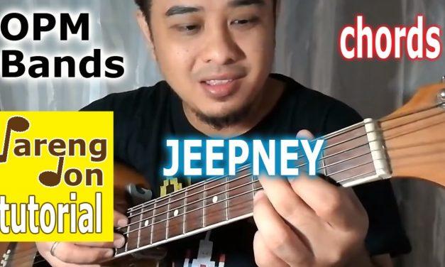 Jeepney Chords Sponge Cola – easy OPM guitar chords ni Pareng Don