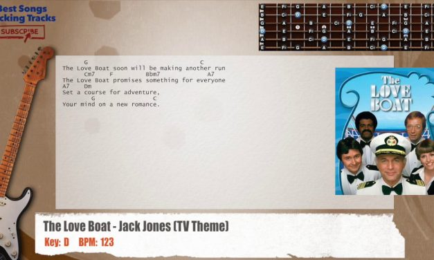 The Love Boat – Jack Jones (TV Theme) Guitar Backing Track with chords and lyrics