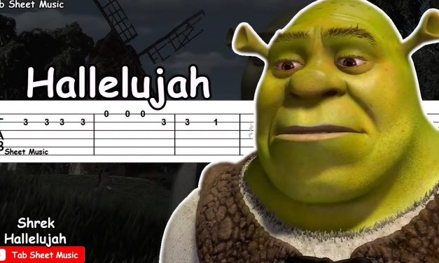 Shrek – Hallelujah Guitar Tutorial