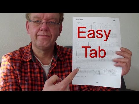 Hello – Adele, easy Fingerstyle Guitar TAB, Chords