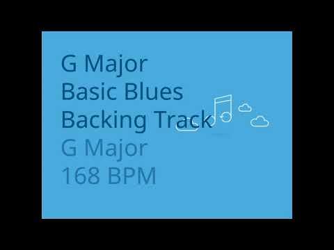 G Major Blues Backing Track for Guitar 168 BPM   Trackingbacks