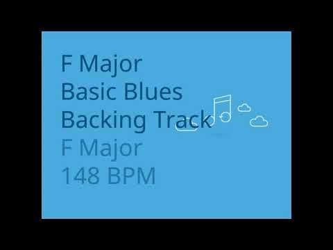 F Major Blues Backing Track for Guitar 148 BPM | Trackingbacks
