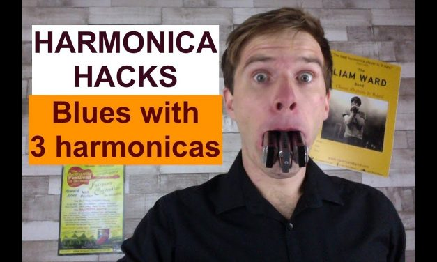 Blues with three harmonicas (Harmonica Hacks #1) – easy harmonica lesson with Liam Ward