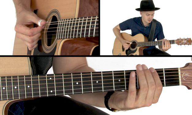 Joe Robinson Fingerstyle Guitar Lesson – Funk in E Bass & Melody Demo