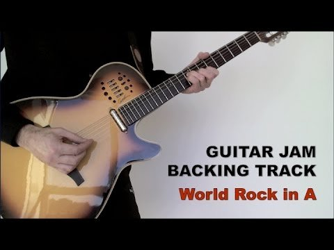 Guitar Jam Backing Track – World Rock in A (87 bpm)