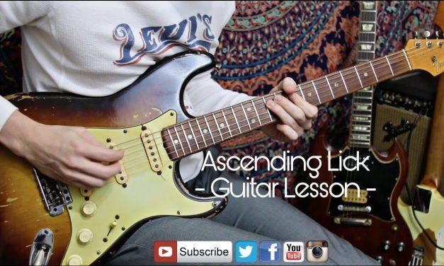 Ascending Lick – Guitar Lesson – 1959 Strat