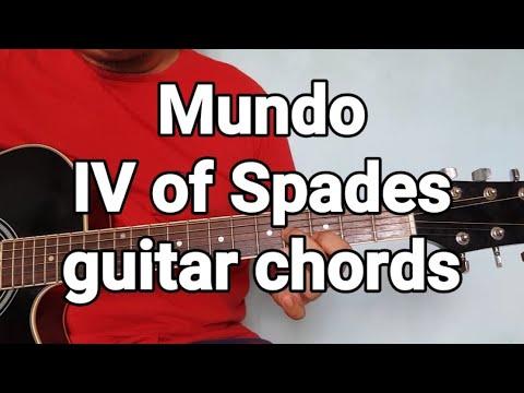 Mundo IV of Spades guitar chords
