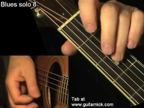 Blues solo 8 – flatpicking + TAB! Acoustic guitar lesson, learn to play