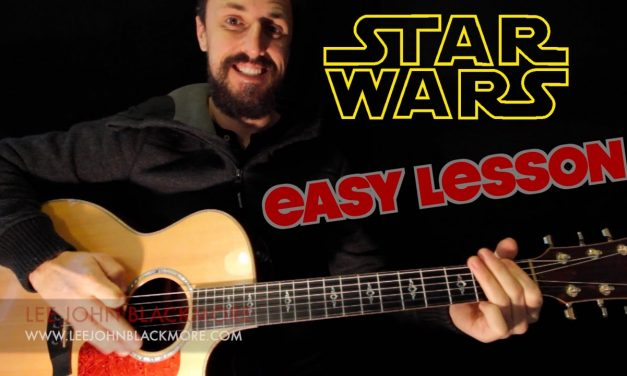 EASY GUITAR LESSON | STAR WARS THEME & DARTH VADER'S THEME | FOR BEGINNERS