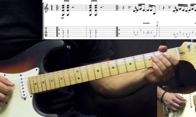 Peter Gabriel – Digging In The Dirt – Rock Guitar Lesson (w/Tabs)