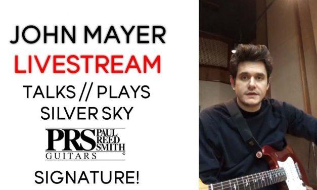 John Mayer Talks // Plays Silver Sky PRS Signature Guitar | Livestream